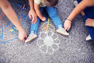 chalk on playground