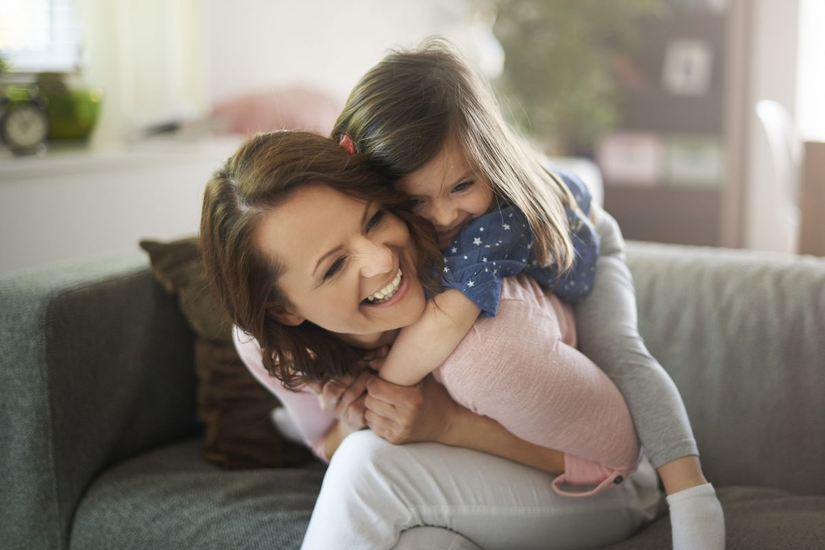 daughter gives me so much happiness - piggybacking on mom