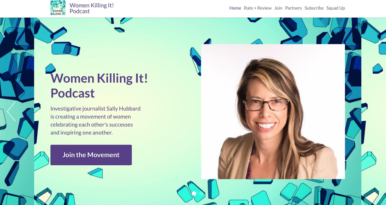 Women Killing It! Podcast Website Screenshot