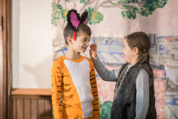 two actor kids playing a storytelling game