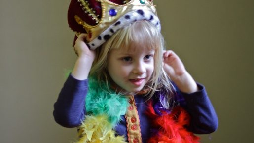 Little Girl in Costume and Crown