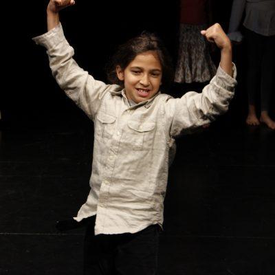 Older Child Actor on Stage